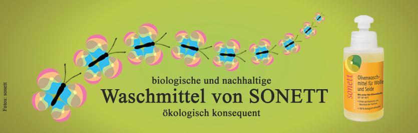 Biologische nachhaltighe ökologische Waschmittel Sonett