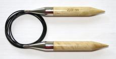 knit & hook Rundstricknadel Holz 20 mm 200 cm