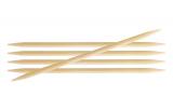 KnitPro Bamboo Nadelspiel 4,0 mm 15 cm