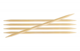KnitPro Bamboo Nadelspiel 4,5 mm 15 cm